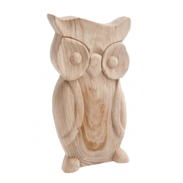 un hibou en bois de paulownia d co d co etc. Black Bedroom Furniture Sets. Home Design Ideas