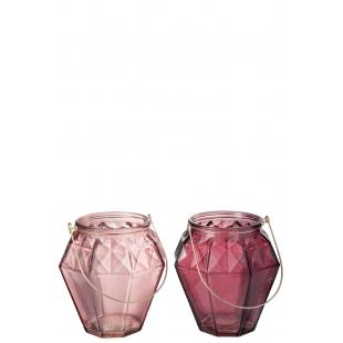 Photophore rose ou framboise