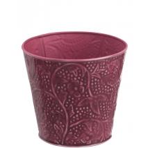 Un cache-pot aux motifs fleuris