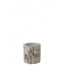 Cache-pot en ciment décoré