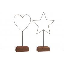 Une étoile et un coeur illuminés