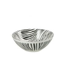 Un bol zèbre en céramique