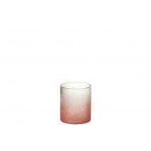 Bougeoir en verre craquelé