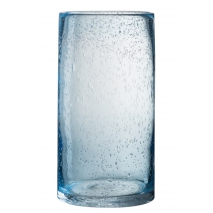 Un bougeoir en verre,décoré de bulles