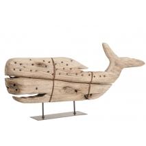Une baleine sur pied et en bois