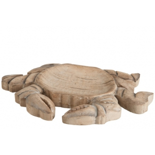 Crabe en bois naturel