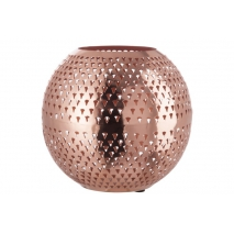 Photophore boule cuivre clair