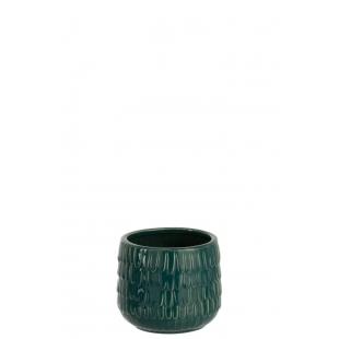 Cache-pot décoré de motifs écailles