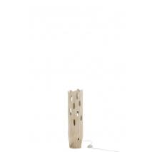 Lampe en bois paulownia