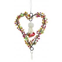 Petit coeur de perles à suspendre