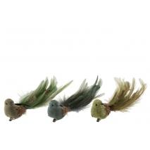 Oiseau décoratif en plumes