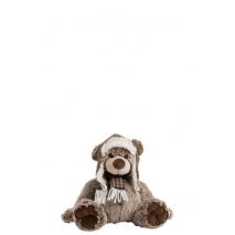 Ours Peluche avec écharpe et bonnet