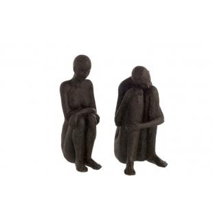Figurine en résine noir
