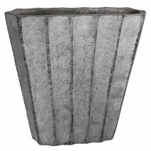 Pot gris en ciment