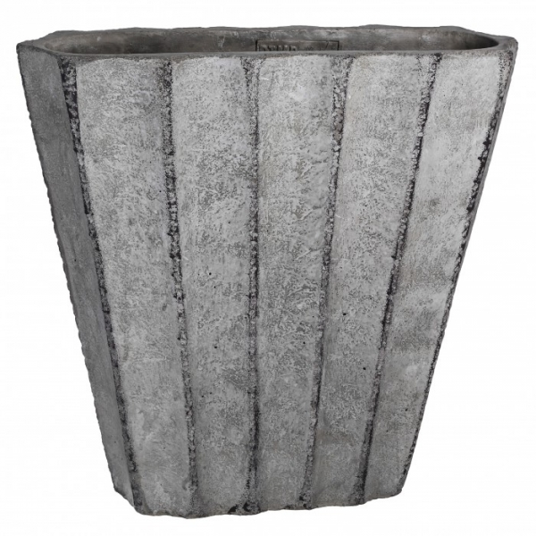 pot gris en ciment d co d co etc. Black Bedroom Furniture Sets. Home Design Ideas