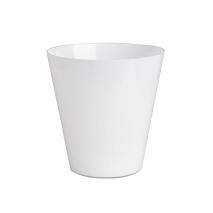 Vase en verre blanc