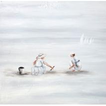 Tableau Des enfants à la plage
