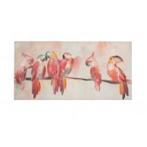 Perroquets sur branche